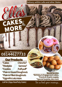 Cakes n baking flyer template A6