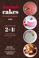 160 customizable design templates for cakes postermywall