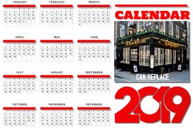 Calendar 2019 Business Poster Template