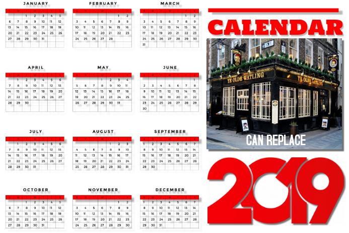 Calendar 2019 Business Poster Template