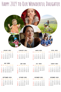 Calendar 2019 Photo Template