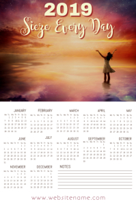 Calendar 2019 Poster Template