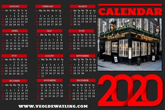 Calendar 2020 Business Poster Template
