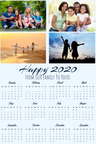 Calendar 2020 Poster Template