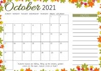 Calendar monthly planning Template A4