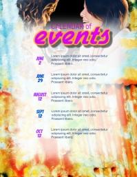 calendar of events flyer template