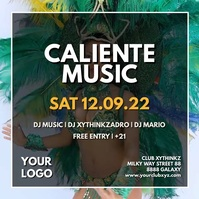 Caliente Music Event Dance Festival Video Ad Instagram Plasing template