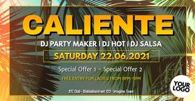 Caliente Party Carneval Event Cover Reggaeton Sampul Acara Facebook template