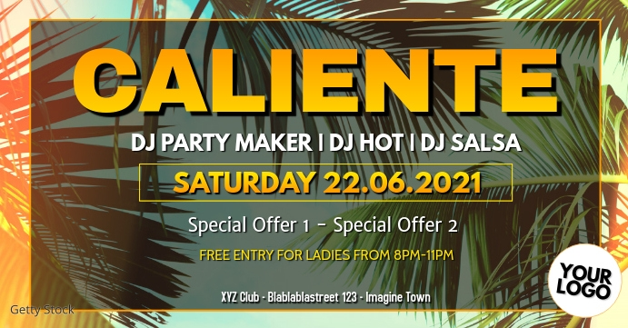 Caliente Party Carneval Event Cover Reggaeton