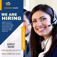 call center hiring instagram post template