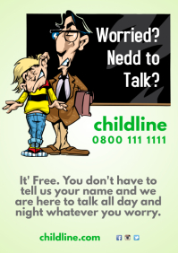 Call Childline Poster Template