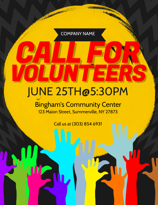 Call For Volunteers Flyer