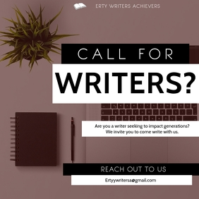 CALL FOR WRITERS Instagram Post template