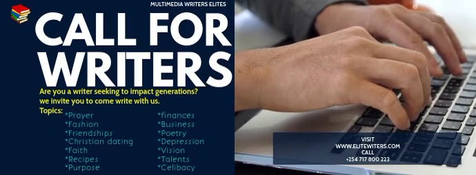 CALL FOR WRITERS VIDEO TEMPLATE Facebook-coverfoto