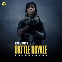 Call of Duty Game Tournament Poster template