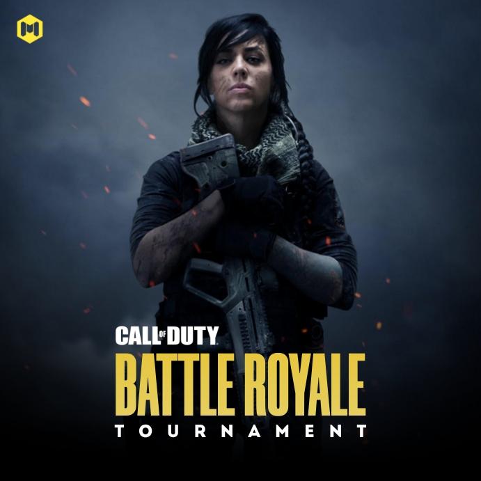 Call of Duty Game Tournament Poster Publicación de Instagram template