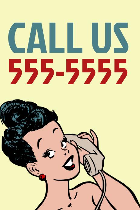 Call us Retro Poster Template