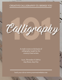 Calligraphy Course / Workshop Flyer Template