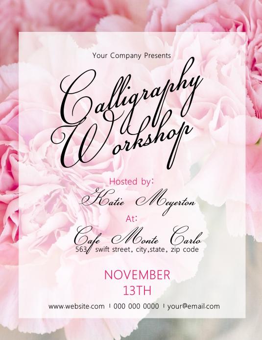 Calligraphy Workshop Flyer Template