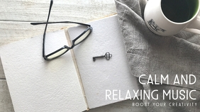 calm and relaxing music youtube thumbnail des