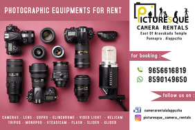 camera for rent Плакат template