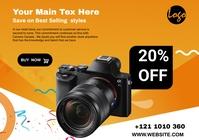 Camera Sale flyers A4 template