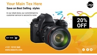 Camera Sale social media post Blog overskrift template