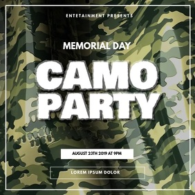 Camo military soldier memorial day party