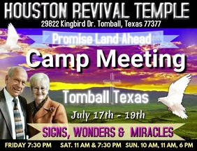 CAMP MEETING FLYER/ADVERTISEMENT template