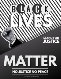 campaign ,Social issues,Black lives Flyer (US Letter) template