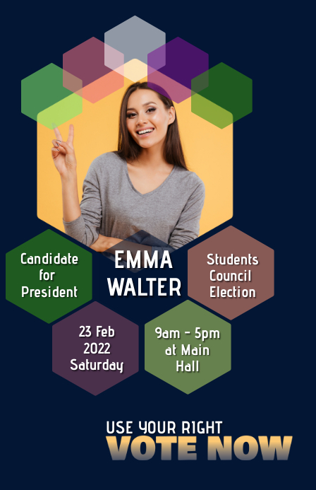 Campaign Poster| Election campaign graphics 小报 template
