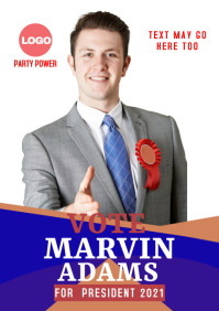 campaign poster 12s A3 template