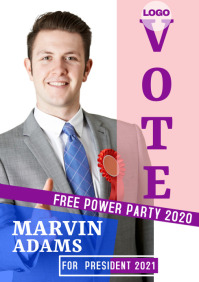campaign poster 13s A3 template