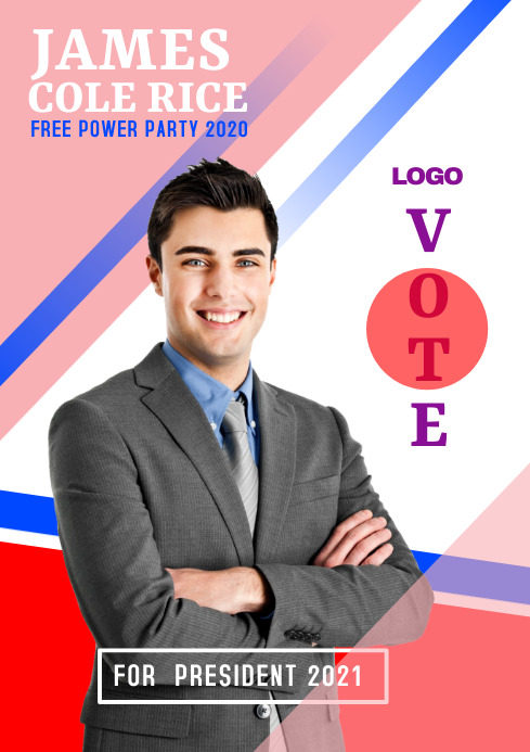 campaign poster 1s A3 template
