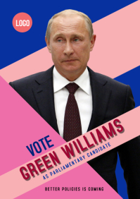 campaign poster 220i A3 template