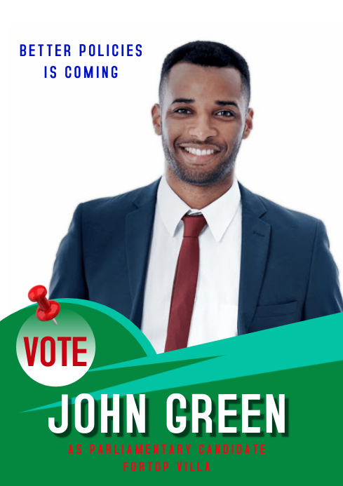 campaign poster 30 A3 template