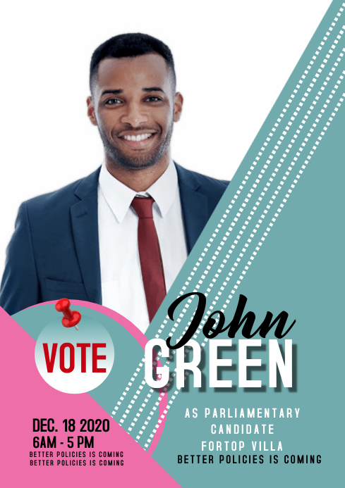 campaign poster 330 A3 template
