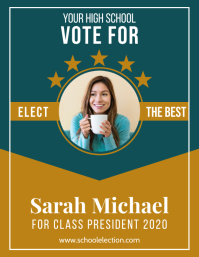 CAMPAIGN POSTER FOR SCHOOL ELECTION Flyer (US Letter) template