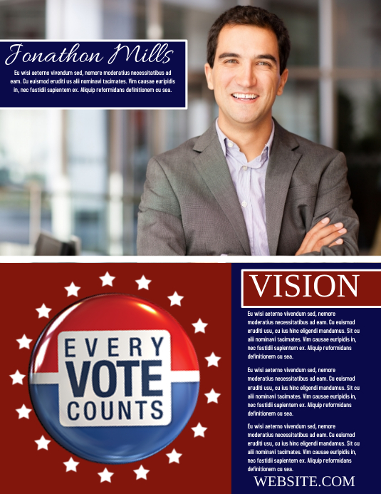 Campaign Flyer (US Letter) template