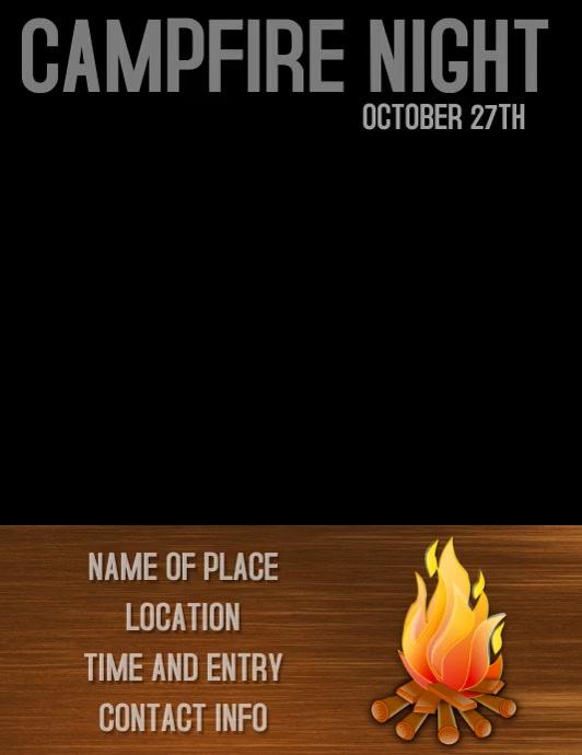 Campfire Night Invitation / Flyer