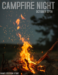 Campfire Night Invitation / Flyer