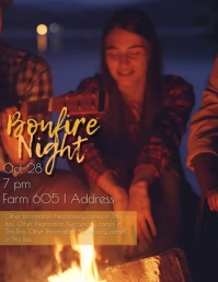 Campfire Night Video Invitation / Flyer
