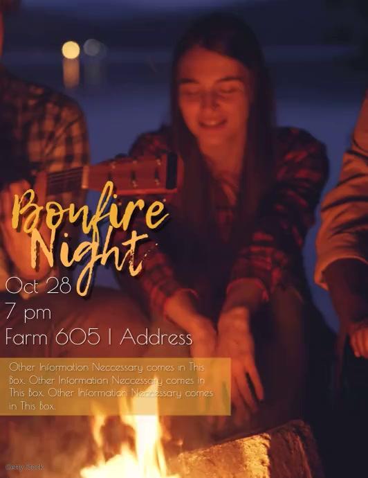 Campfire Night Video Invitation / Flyer