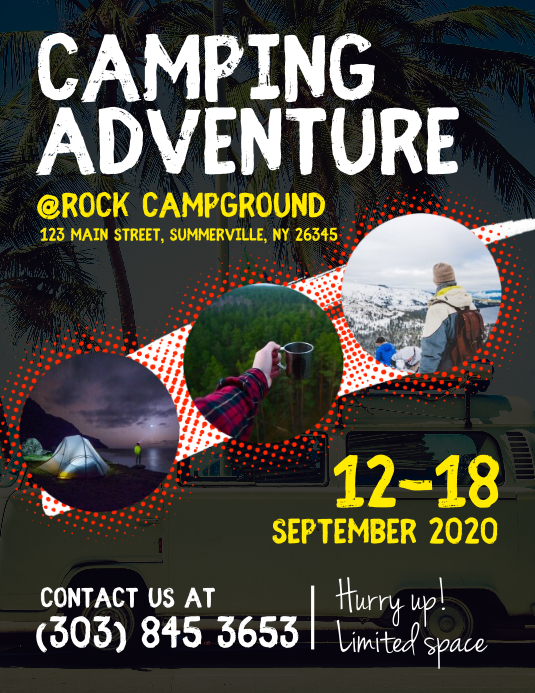 Camping Adventure Flyer