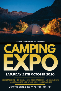 Camping Expo Poster Плакат template