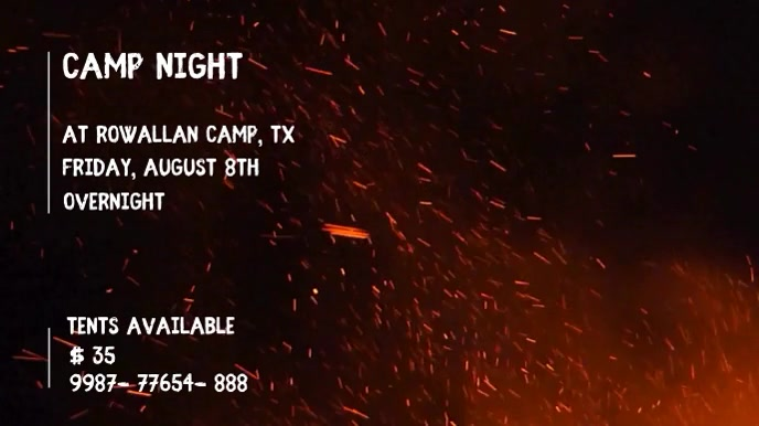 CAMPING VIDEO FLYER TEMPLATE