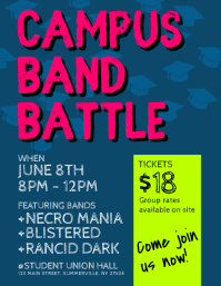 Campus Band Battle Flyer