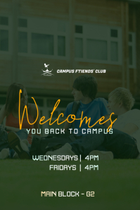 Campus Club Welcome Flyer Poster template