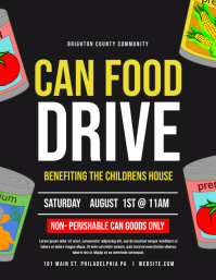 Can food drive Flyer (US Letter) template