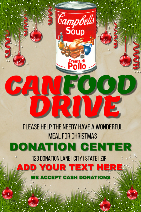 can food drive template